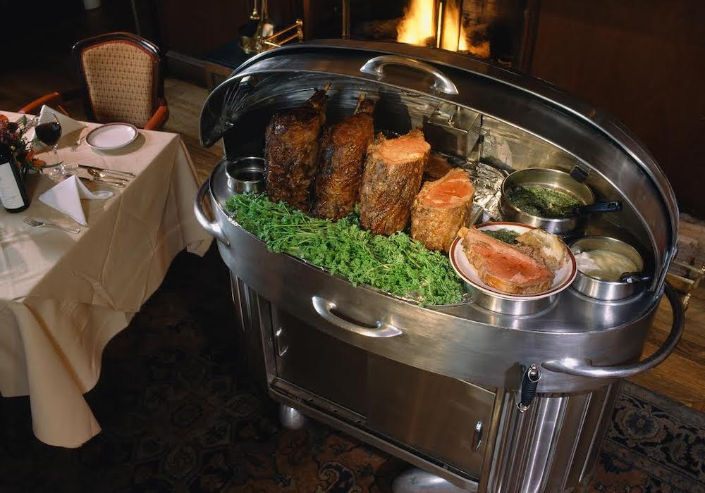 House of Prime Rib iconic stainless steel carts