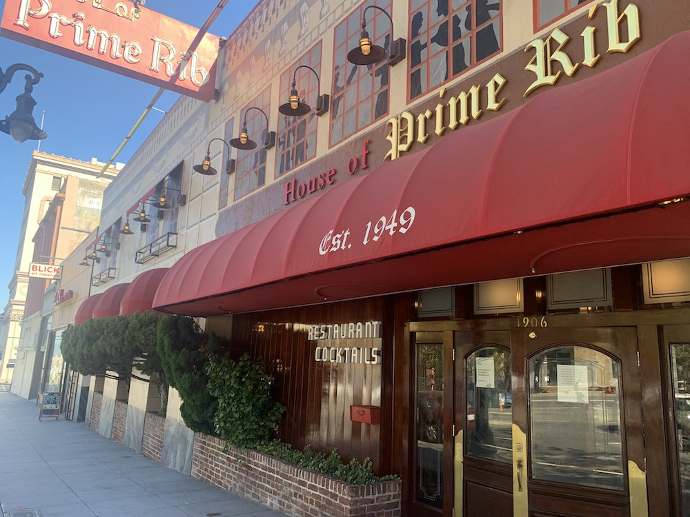 House of Prime Rib, San Francisco