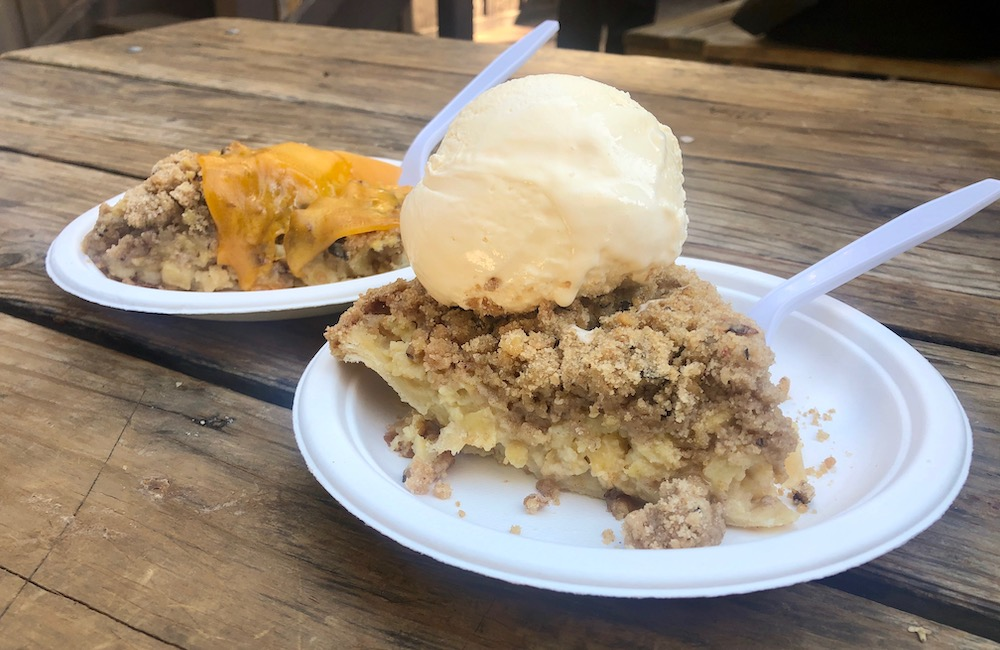 Apple pie at Apple Hill
